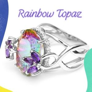 Ring ***NEW 💍💐Fire Rainbow Topaz